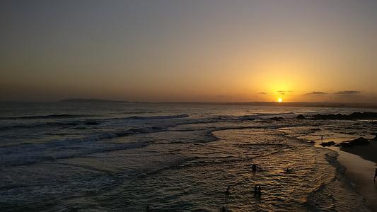 posta de sol, majoria, Mar, posta de sol al mar