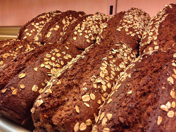Rukkileib, leib, sepik, tume leib, küpsetised, süüa, toidu