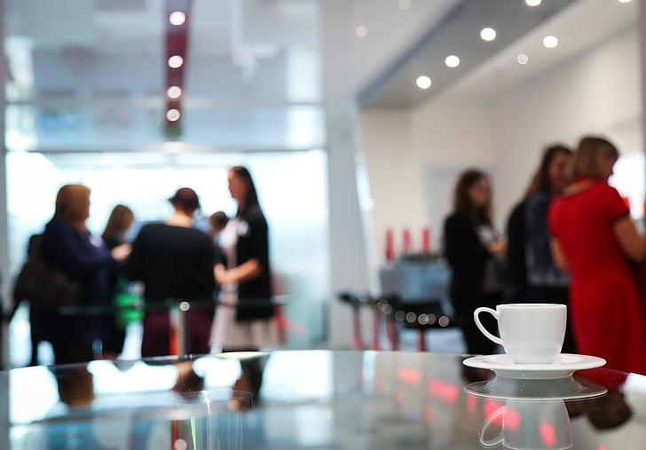 kaffepause, konferencen, kvinder, møde, Office, Business