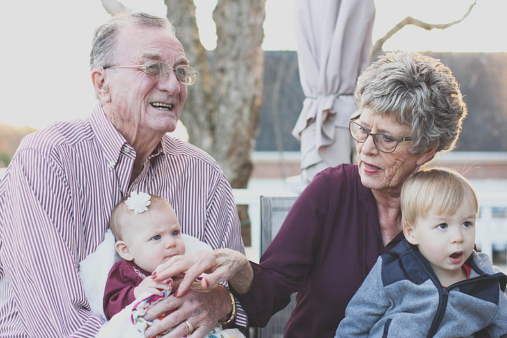 grandparents, grandmother, people, happy, family, senior, outdoors
