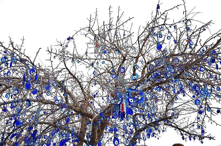 tree, winter, sky, macro, blue stone, wishes, hope