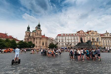 sentrum, gamlebyen, Praha, Tsjekkia i Mähren, byen, historiske gamlebyen, arkitektur
