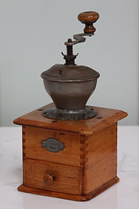 old coffee grinder, old coffee-mill, grandma, coffee-mill, coffee-grinder
