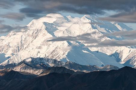 Parc Nacional de Denali, muntanya, neu, pic, Alaska, paisatge, desert