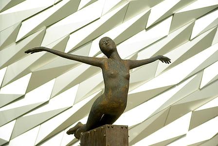 アイルランド, ベルファスト, 博物館, タイタニック号, 彫刻