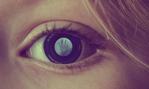 eye, human, eyeball, vision, person, girl, woman